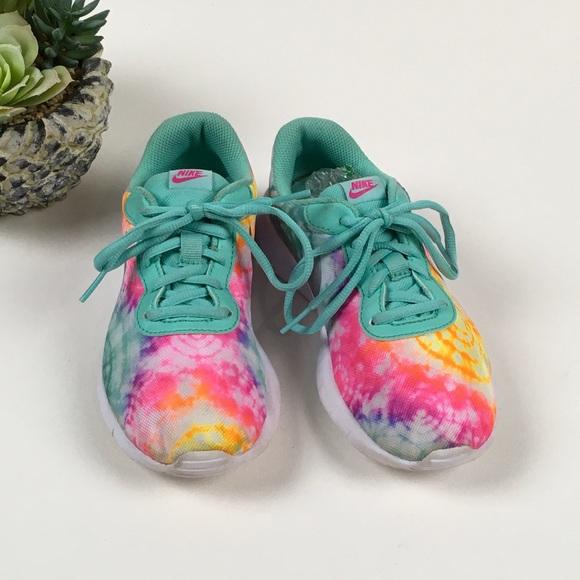 Nike Girls Preschool Tanjun Tiedye Shoe